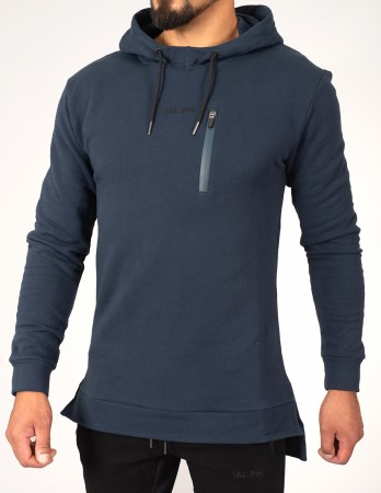 Prussian Blue Alpha Physique Fishtail hoodie
