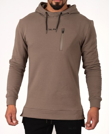 Khaki Alpha Physique Fishtail hoodie